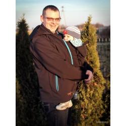 Kurtka Twiga softshell dla Taty do noszenia dzieci - Na zamówienie